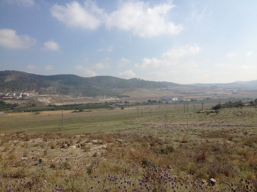 Looking towards Zorah from atop Beit Shemesh