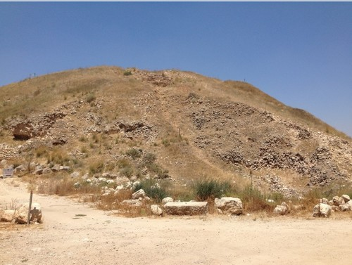 Lachish, from below the tel. We walk up a lot of hills in this class...