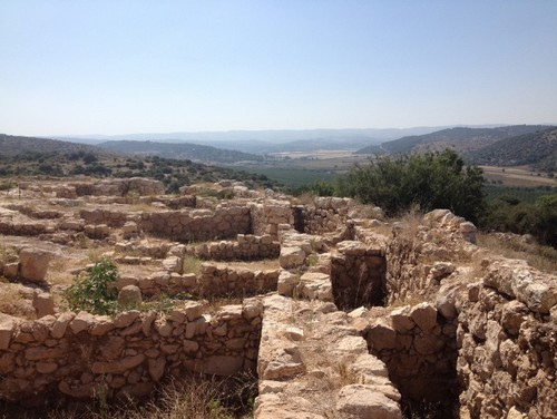 Overlooking the Elah Valley from the ruins of Shaaraim