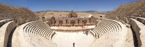 The large amphiteater in Jerash