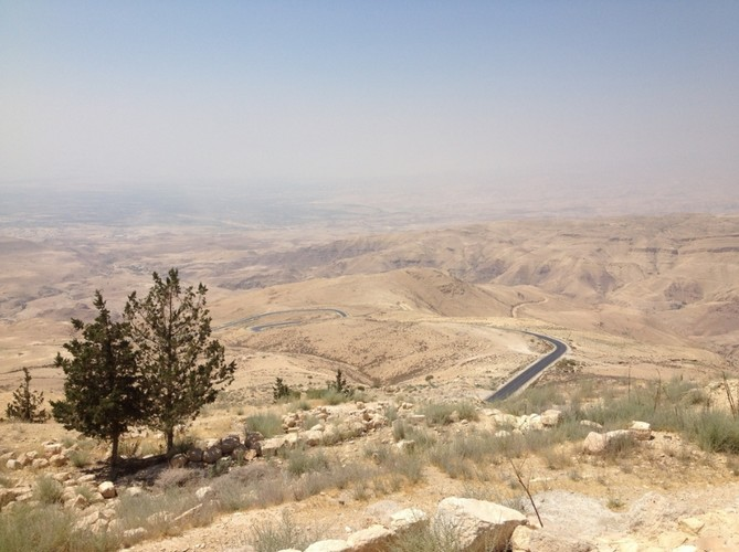 Viewing the Promised Land from Mt. Nebo