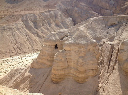 Cave 4 at Qumran, where 122 Bible scrolls were discovered